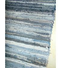 Farmer rongyszőnyeg kék, fekete, szürke 75 x 195 cm