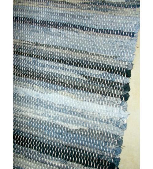 Farmer rongyszőnyeg kék, fekete 75 x 95 cm