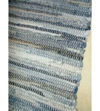 Farmer rongyszőnyeg kék, szürke 75 x 150 cm