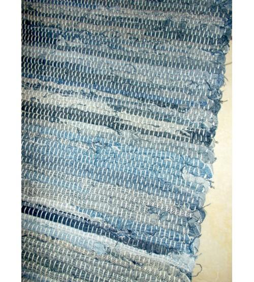 Farmer rongyszőnyeg kék 75 x 150 cm
