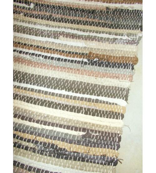 Farmer rongyszőnyeg barna 70 x 150 cm