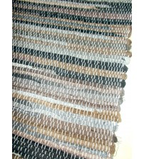 Farmer rongyszőnyeg sötétbarna 70 x 200 cm