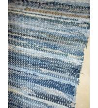 Farmer rongyszőnyeg kék, barna 70 x 190 cm