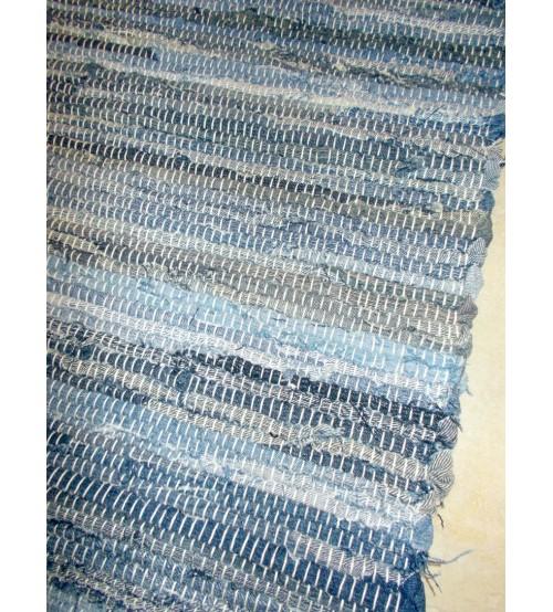 Farmer rongyszőnyeg kék, szürke 70 x 190 cm