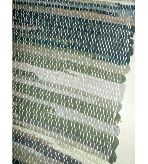 Farmer rongyszőnyeg barna, zöld 70 x 150 cm