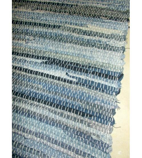 Farmer rongyszőnyeg kék 70 x 150 cm