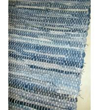 Farmer rongyszőnyeg kék, fekete 70 x 150 cm