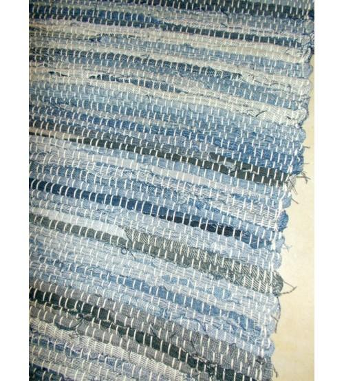 Farmer rongyszőnyeg kék, szürke 70 x 150 cm
