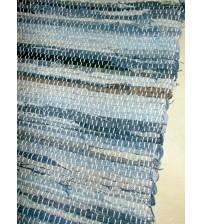 Farmer rongyszőnyeg kék, barna 70 x 150 cm