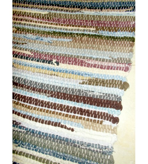 Farmer rongyszőnyeg barna, kék 70 x 160 cm