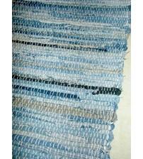 Farmer rongyszőnyeg kék, barna, fekete 70 x 200 cm