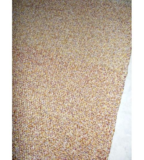Fonal rongyszőnyeg barna 70 x 180 cm