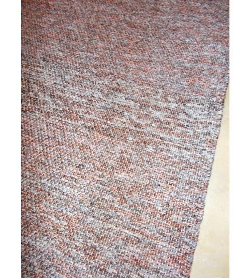 Fonal rongyszőnyeg szürke, barna 70 x 150 cm