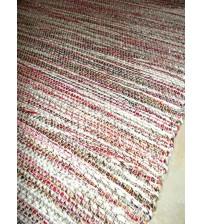 Fonal rongyszőnyeg piros, szürke 75 x 140 cm
