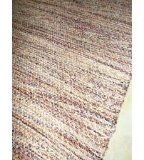 Fonal rongyszőnyeg piros, barna, lila 75 x 150 cm