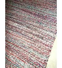 Fonal rongyszőnyeg piros, szürke, kék 75 x 100 cm