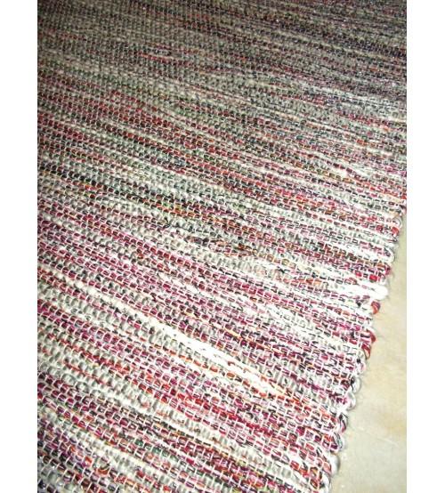 Fonal rongyszőnyeg piros, szürke 75 x 200 cm