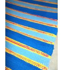 Frottír rongyszőnyeg kék, sárga, piros 65 x 100 cm