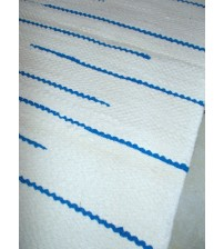 Frottír rongyszőnyeg nyers, kék 55 x 195 cm