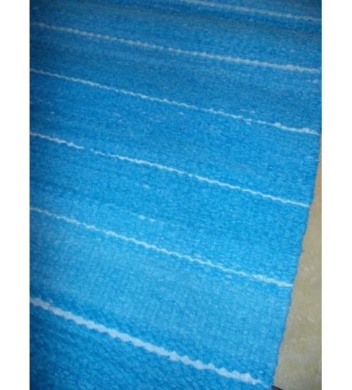 Frottír rongyszőnyeg kék 60 x 200 cm