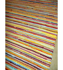 Frottír rongyszőnyeg színes 70 x 150 cm