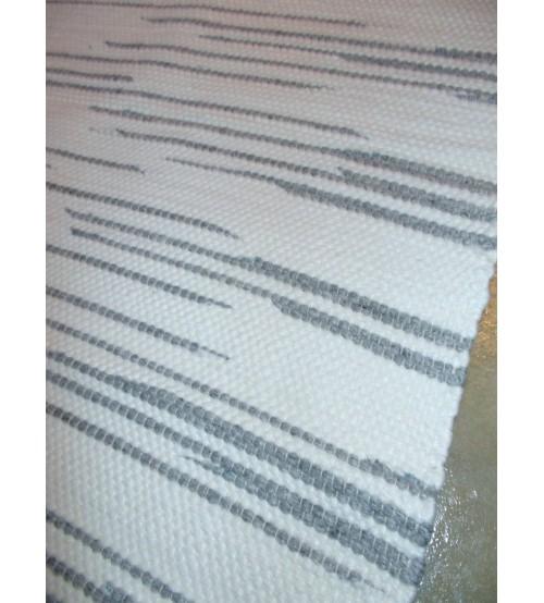 Gyapjúfilc rongyszőnyeg fehér, szürke 70 x 100 cm