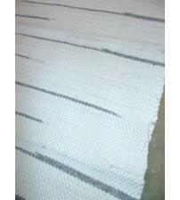 Gyapjúfilc rongyszőnyeg fehér, szürke 70 x 105 cm