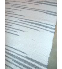 Gyapjúfilc rongyszőnyeg fehér, szürke 70 x 150 cm