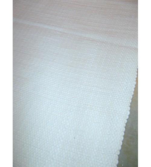 Gyapjúfilc rongyszőnyeg fehér 70 x 200 cm