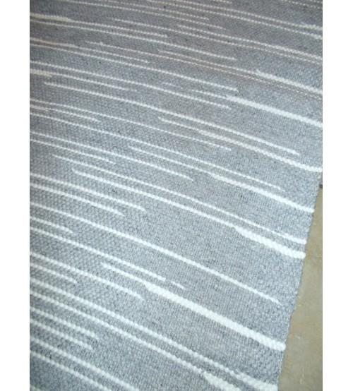 Gyapjúfilc rongyszőnyeg szürke, fehér 70 x 200 cm