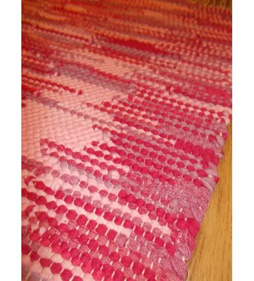 Hagyományos rongyszőnyeg rózsaszín, lila 60 x 65 cm