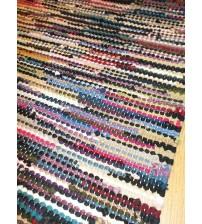 Hagyományos rongyszőnyeg színes 65 x 115 cm