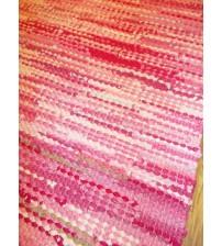 Hagyományos rongyszőnyeg rózsaszín 60 x 195 cm