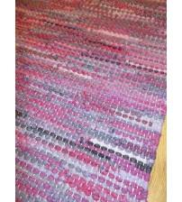 Hagyományos rongyszőnyeg lila 60 x 200 cm