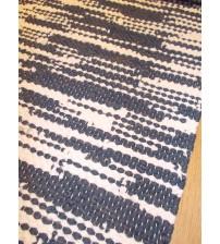 Hagyományos rongyszőnyeg kék, fehér 60 x 135 cm