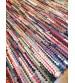Hagyományos rongyszőnyeg színes 70 x 145 cm