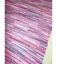 Hagyományos rongyszőnyeg lila, rózsaszín 65 x 195 cm