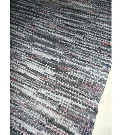 Hagyományos rongyszőnyeg szürke 70 x 130 cm