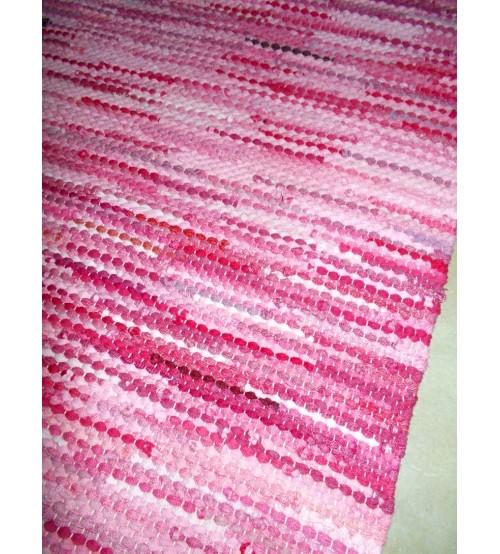 Hagyományos rongyszőnyeg rózsaszín, nyers 60 x 180 cm