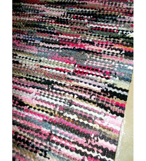 Hagyományos rongyszőnyeg színes 65 x 165 cm