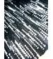 Hagyományos rongyszőnyeg fekete, fehér 60 x 200 cm