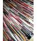 Hagyományos rongyszőnyeg színes 65 x 120 cm