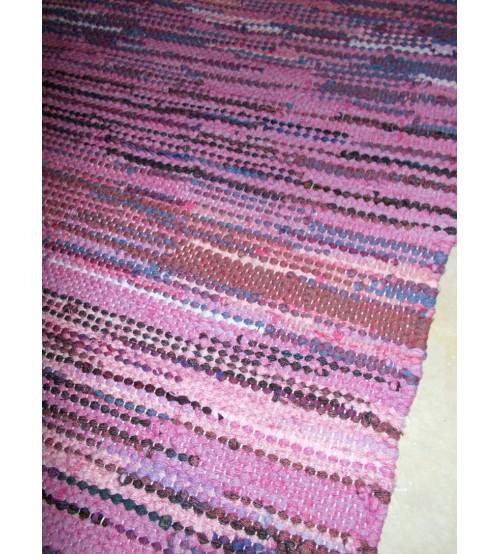 Hagyományos rongyszőnyeg lila 70 x 80 cm