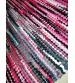 Hagyományos rongyszőnyeg rózsaszín, fekete 60 x 180 cm