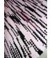 Hagyományos rongyszőnyeg rózsaszín, fekete 55 x 70 cm