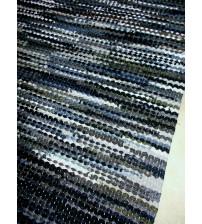 Hagyományos rongyszőnyeg kék, szürke 65 x 200 cm