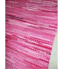 Hagyományos rongyszőnyeg rózsaszín 55 x 195 cm