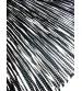 Póló rongyszőnyeg fekete, fehér 70 x 200 cm