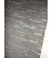 Póló rongyszőnyeg barna 70 x 150 cm