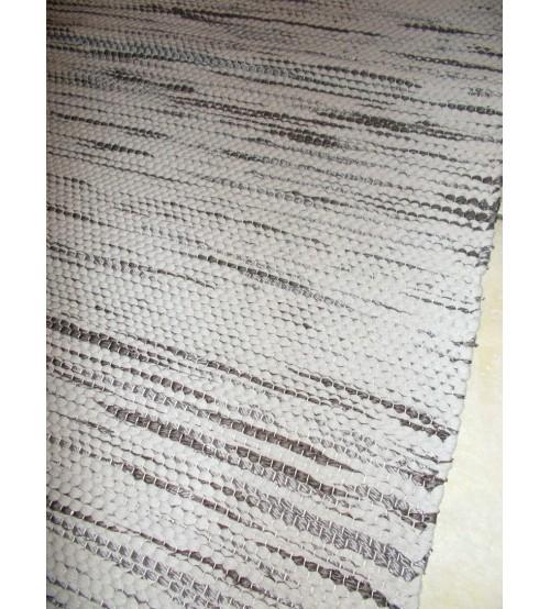Póló rongyszőnyeg barna 70 x 125 cm
